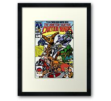 Cartoon Wars Framed Print