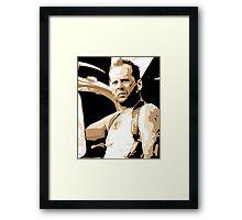 Bruce Willis Vector Illustration Framed Print