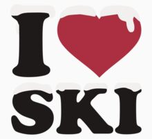 I love ski skiing by Designzz