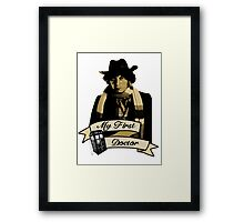 My first Doctor (Who) Fourth 4th Tom Baker Framed Print