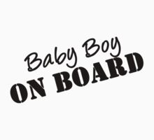 Baby Boy on Board Maternity Wear  by romysarah