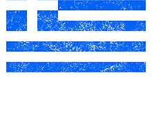 Distressed Greece Flag by kwg2200