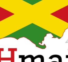 JAHmaica BLK Sticker