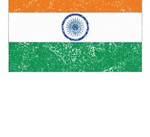 Distressed India Flag by kwg2200
