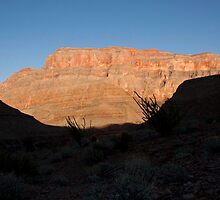Canyon framed by Dark Ridge by NoblePhotosCard