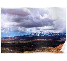 Shadows over Arizona Mountain and Desert Landscape Poster