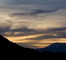 Sunset over Desert Mountains by NoblePhotosCard