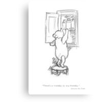 Winnie the Pooh - in the Honey Cupboard Metal Print