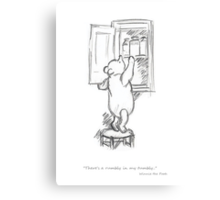 Winnie the Pooh - in the Honey Cupboard Canvas Print