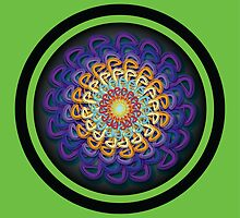Infinite Path Martial Arts Mandala 5 by Robyn Scafone