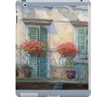 Red Floral Balcony iPad Case/Skin
