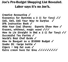 Joe's Shopping List - Black Text by Heatherian