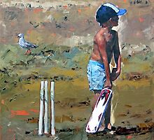 Beach Cricketer by Claire McCall