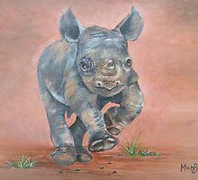 Happy Rhino by BluGeckos