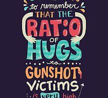 Ratio of Hugs to Gunshot Victims by Risa Rodil