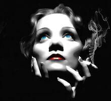 Marlene Dietrich Large Size Portrait by Gabriel T Toro