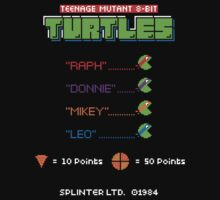 Teenage Mutant 8-Bit Turtles by stationjack