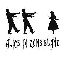 Alice in Zombieland Photographic Print