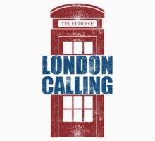 London Calling - UK Red Telephone Box by wordsonashirt