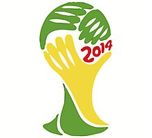 FIFA World Cup Logo Brazil 2014 Photographic Print