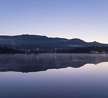Morning over a lake of glass by Josef Pittner