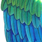 Blue Macaw Feathers pattern by Vicky Pratt