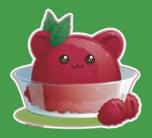 Cute Raspberry Sorbet Ice Cream Bear by kimchikawaii