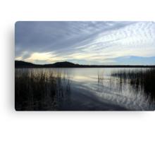 wintertime at cudgen lake...  Canvas Print