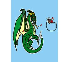 Dragons and Knights Photographic Print