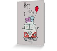 Birthday Camper Van With Presents  Greeting Card
