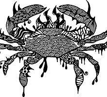 Prints of Crab #1 hand drawn art by martywoodskk