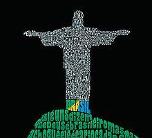 Cristo Redentor, Rio de Janeiro - Calligram by juliabfragoso