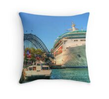Rhapsody at the Quay Throw Pillow