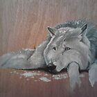 Resting Wolf by artistichamster