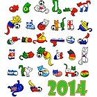 WORLD CATS 2014 by helenasia