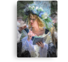 Lady in Oil  Canvas Print