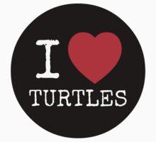 I Heart Turtles - USARK Fund Raiser Sticker! by Sarah Ball (TheMaggotPie)