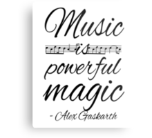 Music is Powerful Magic - AG Metal Print