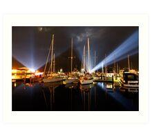 Marina Lights - Dark Mofo 2014 Art Print