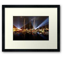 Marina Lights - Dark Mofo 2014 Framed Print