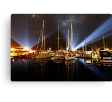Marina Lights - Dark Mofo 2014 Canvas Print