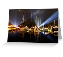Marina Lights - Dark Mofo 2014 Greeting Card