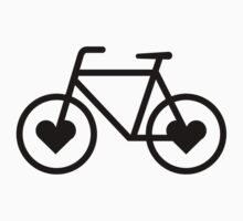 Black Bicycle Love - Fixie Hearts by CorrieJacobs