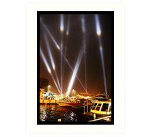Dark Mofo 2014 - Articulated intersect - Hobart light show Art Print