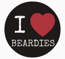I Heart Beardies - USARK Fund Raiser Sticker! by Sarah Ball (TheMaggotPie)