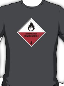 HAZMAT 4.2 Spontaneously Combustible T-Shirt