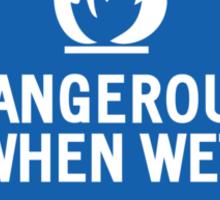 HAZMAT 4.3 Dangerous when Wet Sticker