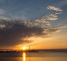 Good Morning, Toronto with a Glorious Sunrise by Georgia Mizuleva