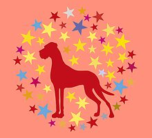 Great Dane with Star Heart by Doggenhaus