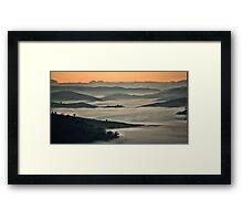 Misty Valley - Hill End NSW Australia Framed Print